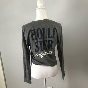 Hollister Long Sleeve Slightly Cropped Top